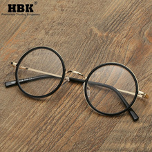 Fashion Vintage Metal Frame Glasses Round Clear Lens Nerd Geek Eyewear Retro Eyeglasses Circle Transparent Spectacles PG0064