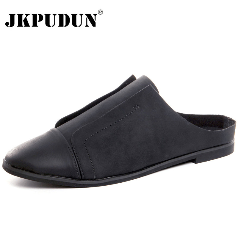 JKPUDUN Summer Fashion Half Shoes For Men Slip On Mens