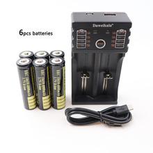 2S4S6 PCS 3 7V 4000mAh 18650 baterie litowo-jonowe akumulator do latarki latarka e-papieros i ładowarka USB tanie tanio DAWEIKALA 2-6PCS Li-ion 3500 mAh 1pcs charger+2 4 6pcs 18650 battery Ładowarka Zestawy Pakiet 1