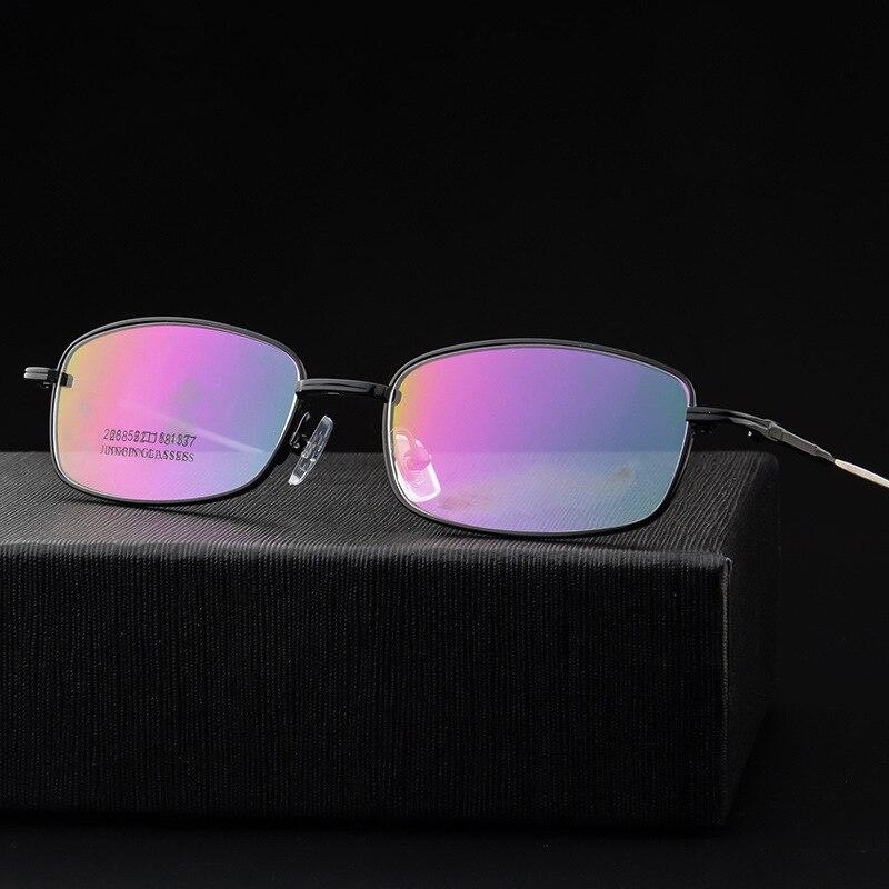 97b9a8483b VCKA Brand Glasses Memory alloy Eyeglasses Frames Men Optical Business  Frame Mens Eyewear Square suit Prescription Lenses oculos-in Eyewear Frames  from ...