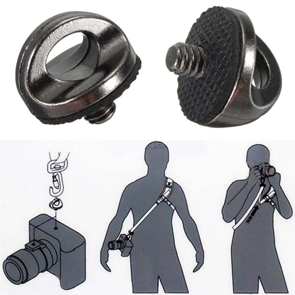 """Good Quality 1/4""""Screw Connecting Adapter Alloy Camcorder Shoulder Adapter Nut For Camera Quick Rapid DSLR Sling Strap Camcorder
