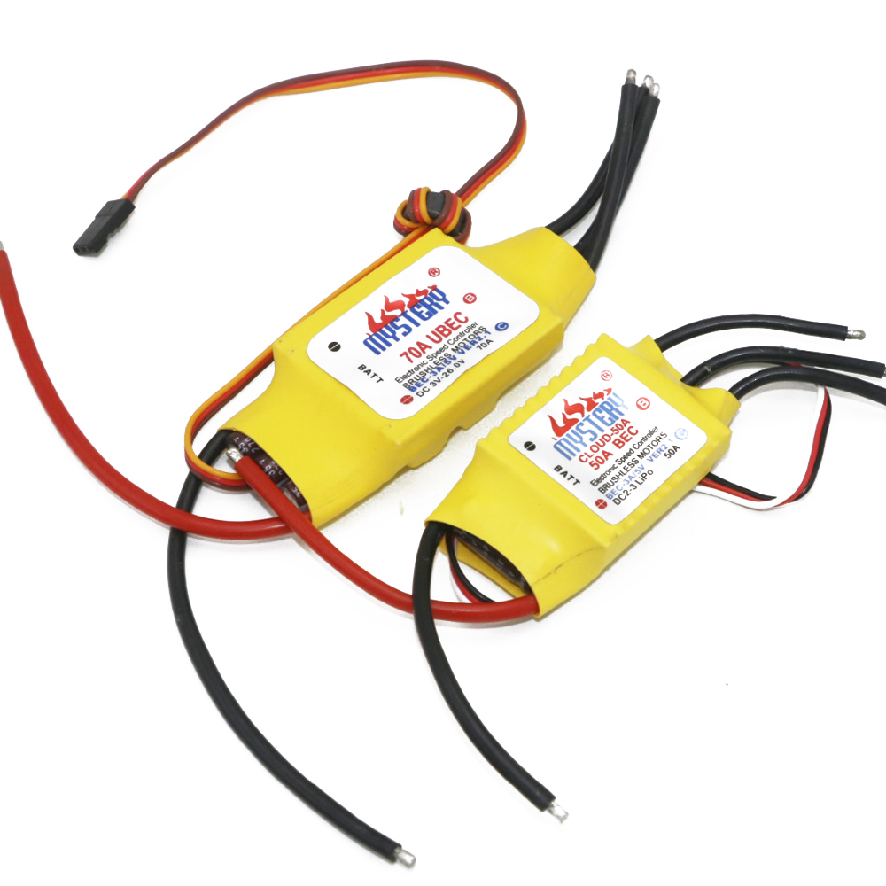 1pcs Mystery Cloud 10A/20A/30A/40A/50A/60A/70A/80A/100A/200A Brushless ESC with BEC For RC Airplane Helicopter image