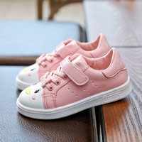 Children S Autumn New Pattern Girl Small White Leisure Time Cartoon Sneakers In Student Skate Shoes