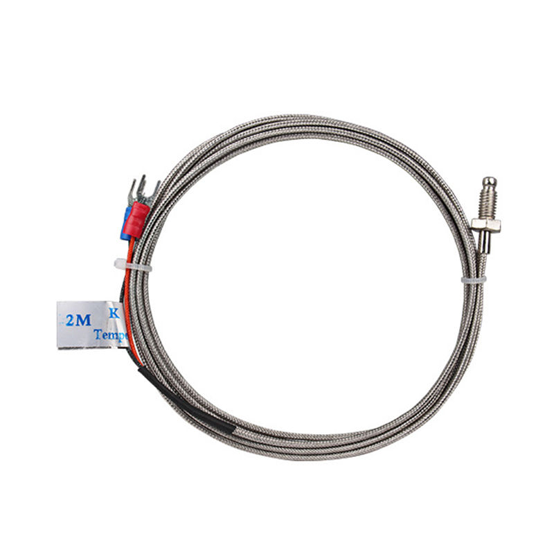 Wholesale M6 Screw Probe K type Thermocouple Temperature Sensor with 3M Wire for Industrial Temperature Controller k0387 k type thermocouple probe temperature measuring cable white yellow 2 77m