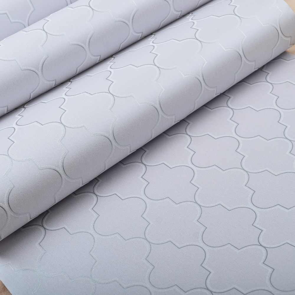 Marokkaanse Trellis Zwart Wit Moderne Geometrische Patroon Behang Roll Quatrefoil Wall Paper Slaapkamer Live room Achtergrond Decor