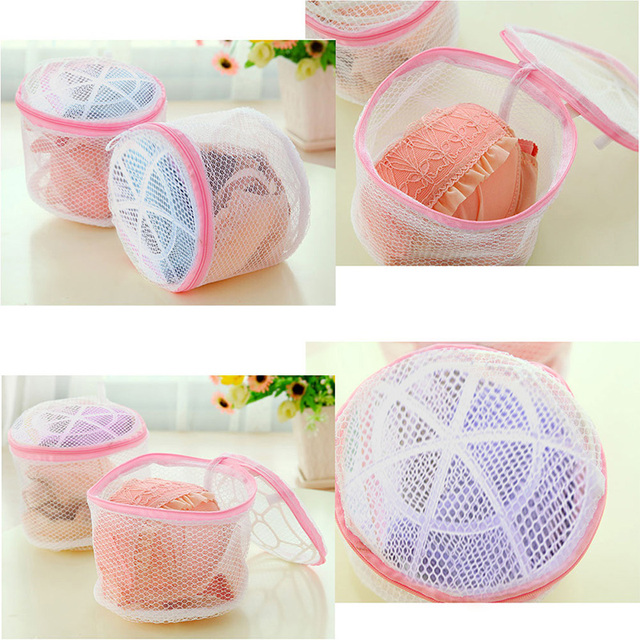 Polyester Washing Mesh Net Underwear Bra Clothes Socks Zipped Wash Bag Laundry Automatic Machine