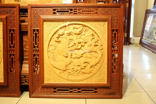 Dongyang wood carving Pendant classical Chinese style decoration ...