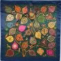 90 см * 90 см Шелковый Шарф 2017 Новая Коллекция Весна Марка Женщины Шелковый Шарф Женщины Эксклюзивная Модная Письмо Шелковый Шарф шарфы мода WJ201