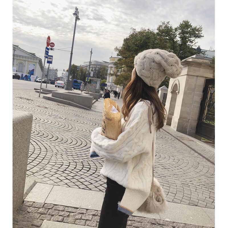 2019 MISHOW סתיו חורף סוודר נשים סביב צוואר ארוך שרוול מוצק לשמור חם סרוג סוודר חולצות MX18D5120