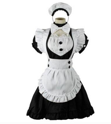 8a48dcf9dcba Костюм Горничной Лолита платье горничной Япония горничной косплей Хэллоуин  костюмы для женщин вечерние Косплей Карнавальная одежда