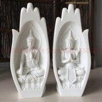 10pcs/lot=5set Buddha Statue Monk Figurine Tathagata India Yoga Mandala Hands Sculptures Home Decoration Accessories Ornaments