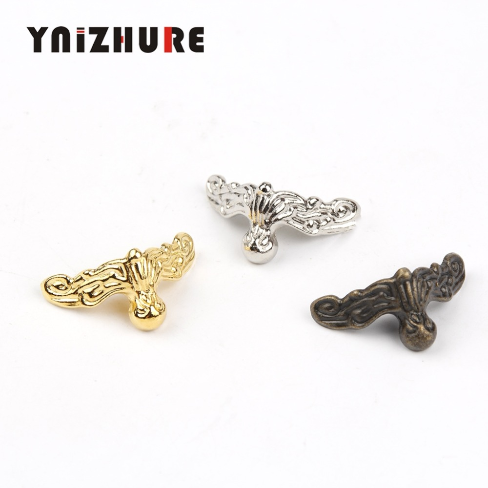 YNIZHURE 20Pcs 26x13mm Jewelry Gift Box Wood Case Decorative Feet Leg Corner Protector Craft Gift Hardware Free Shipping