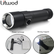 S-001 LED Portable XM-L Q5 Flashlight Torch Aluminum Waterproof Sport Light With Magnetic Clip For Camping Outdoor
