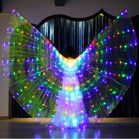 2018 New Performance Prop Women Dance Accessories Girls DJ LED Wings Light Up Wing Costume LED Butterfly Wings Multicolors