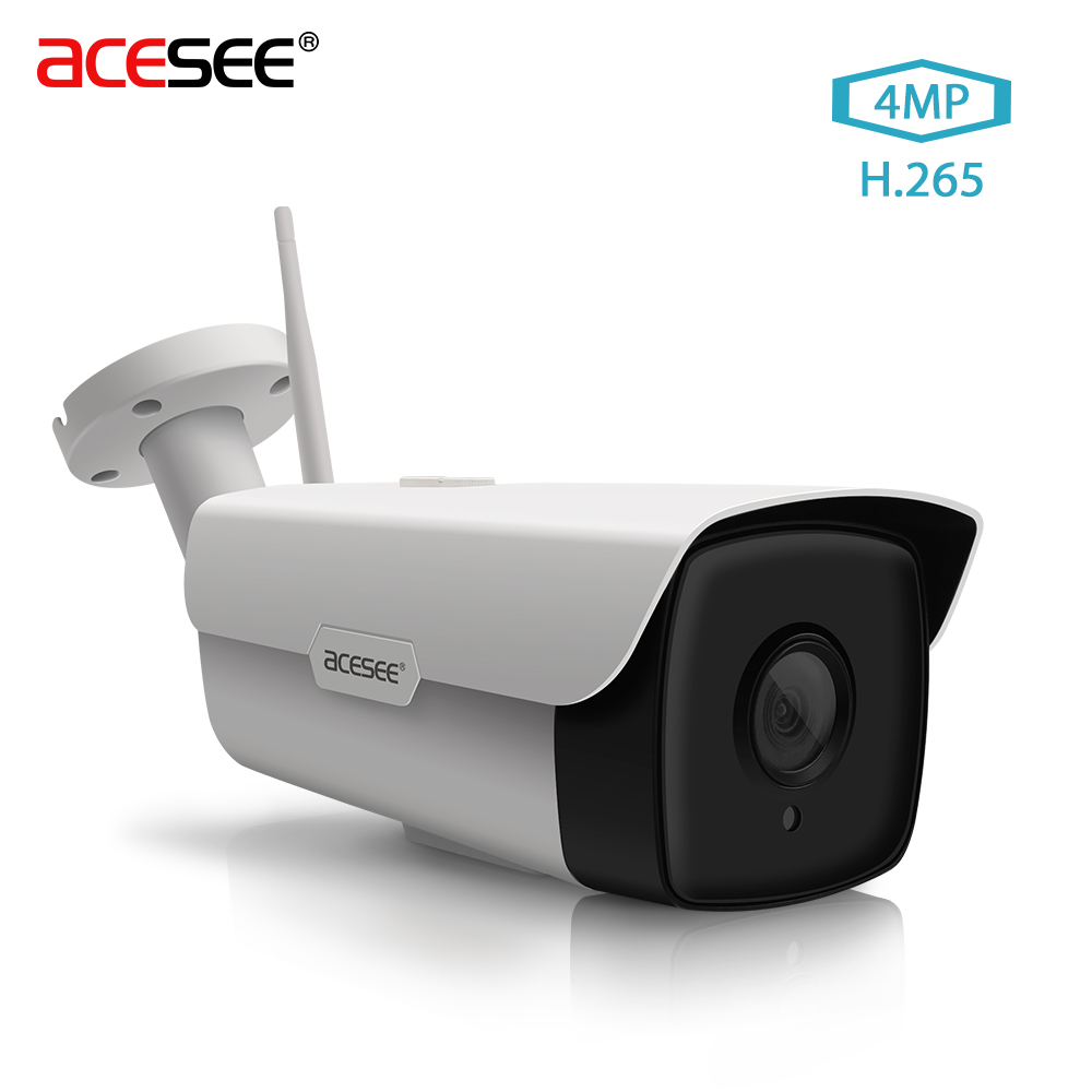 Camera Exterieur En Wifi Us 23 59 Acesee Ov4689 Wifi Ip Camera 4mp Wifi Outdoor Security Cameras Wireless Ip Webcam Onvif 2 4 Cctv Video Surveillance Camera H 265 In