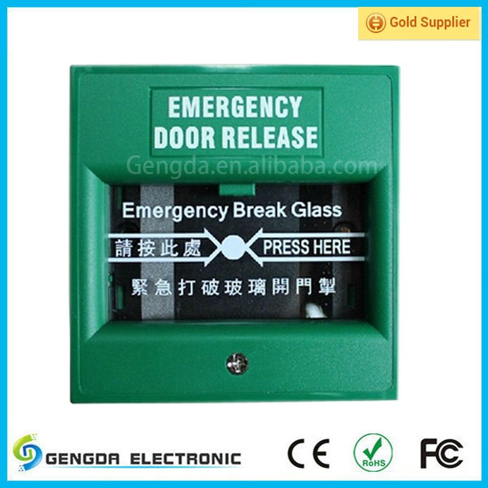 Good Quality Emergency Door Release Break Glass Alarm Release On