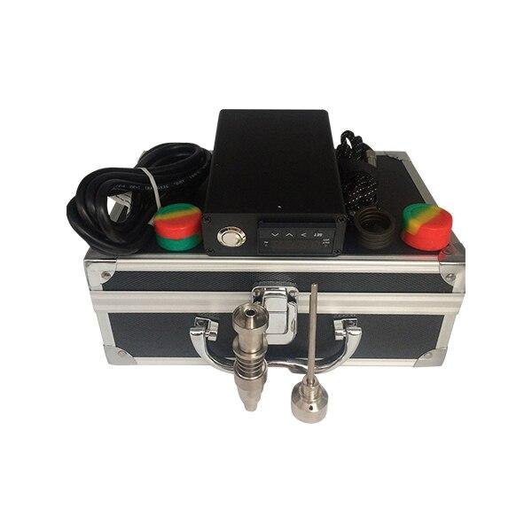 2015 ENails Kit numérique PID électronique ongles Dab titane ongles sans dôme Dnail d-nail e-nail D ongles cire vaporisateur boîte vapeur