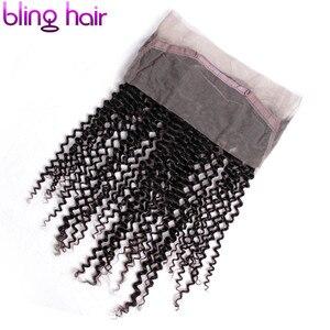Image 4 - ブリンブリン髪ブラジル変態カーリー 360 レースフロントで事前摘み取ら 100% レミー人間の髪閉鎖漂白ノット