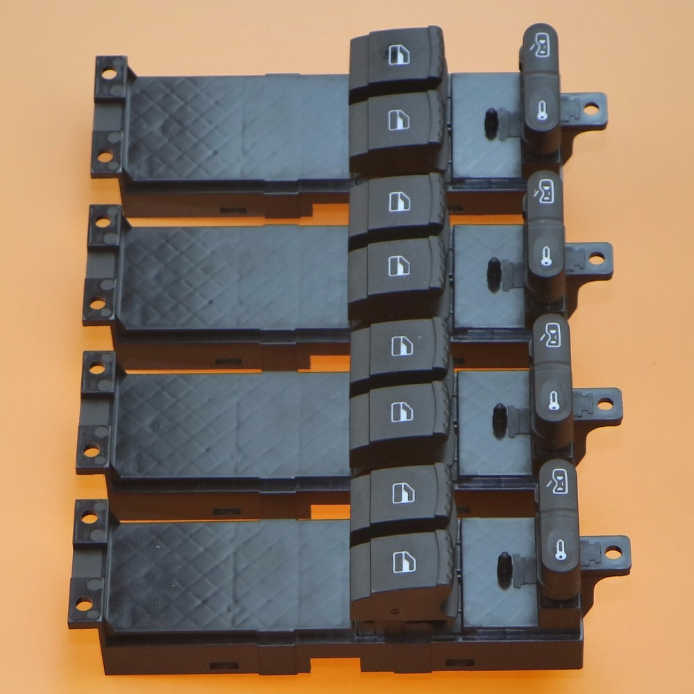 4Pcs New Master Electronic Window Control Switch For fabia octavia Golf MK4 2 Door 1J3 959 857 1J3 959 857 D 1J3 959 857D