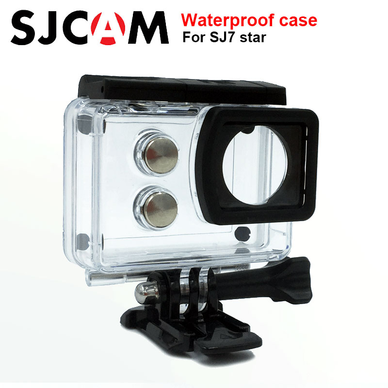 Original SJCAM SJ7 Star Underwater Housing Waterproof Case 30M Diving case For SJ CAM SJ7 star Sports Action Camera Accessories original sjcam car charger microphone remote watch monopod motorcycle waterproof case dual charger for sj sj7 star action camera