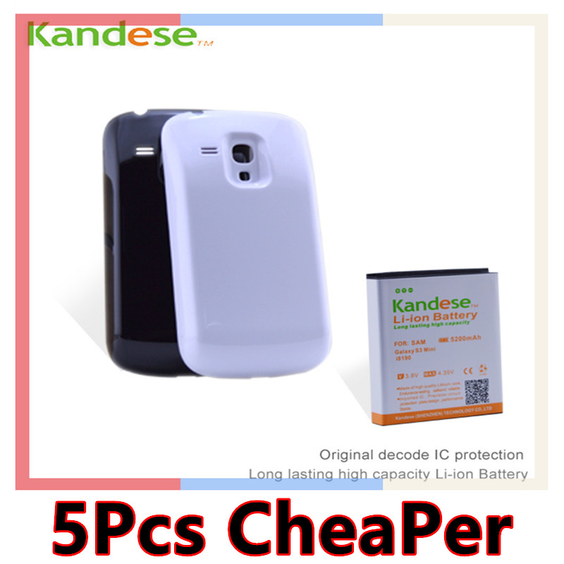 sale Kandese Extended Large Capacity 5200mAh Lithium Battery Replacement for phone Samsung Galaxy S3 MINI I8190