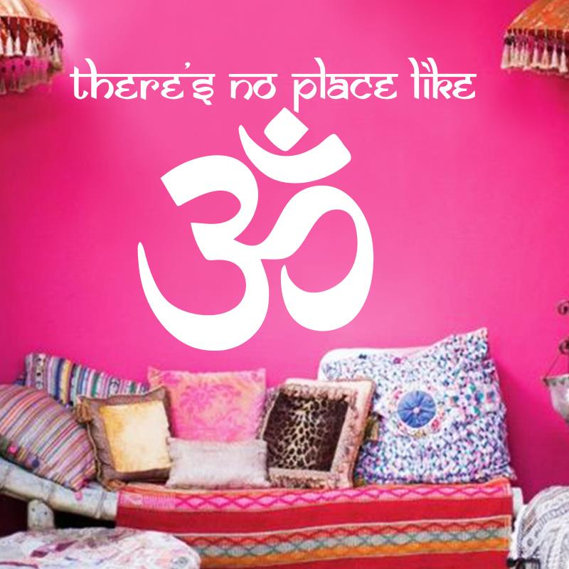 Om Shanti Om Symbol Hinduism  Vinyl Wall sticker Yogs Namaste Home decoration Decals Indian Peace stickers Aum Namah Shivaya