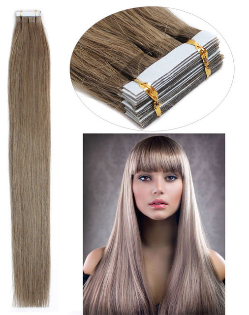Cheap Dark Ash Blonde Tape Brazilian Virgin 18 Inch 25gpiece