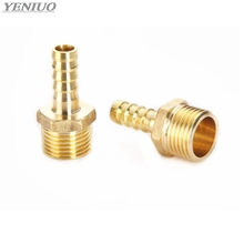 Brass Pipe Fitting 4mm 6mm 8mm 10mm 12mm 19mm Hose Barb Tail 1/8 1/4 1/2 3/8 BSP Male Connector Joint Copper Coupler Adapter
