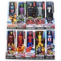 Color boxed 30cm SuperHeros The Avengers Iron Man Spider Man Captain American Wolverine PVC Toy Action Figure Model