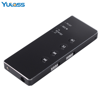 Yulass 8GB Micro Digital Voice Recorder Black USB Professional Audio Recorder With MP3 Player Free shipping