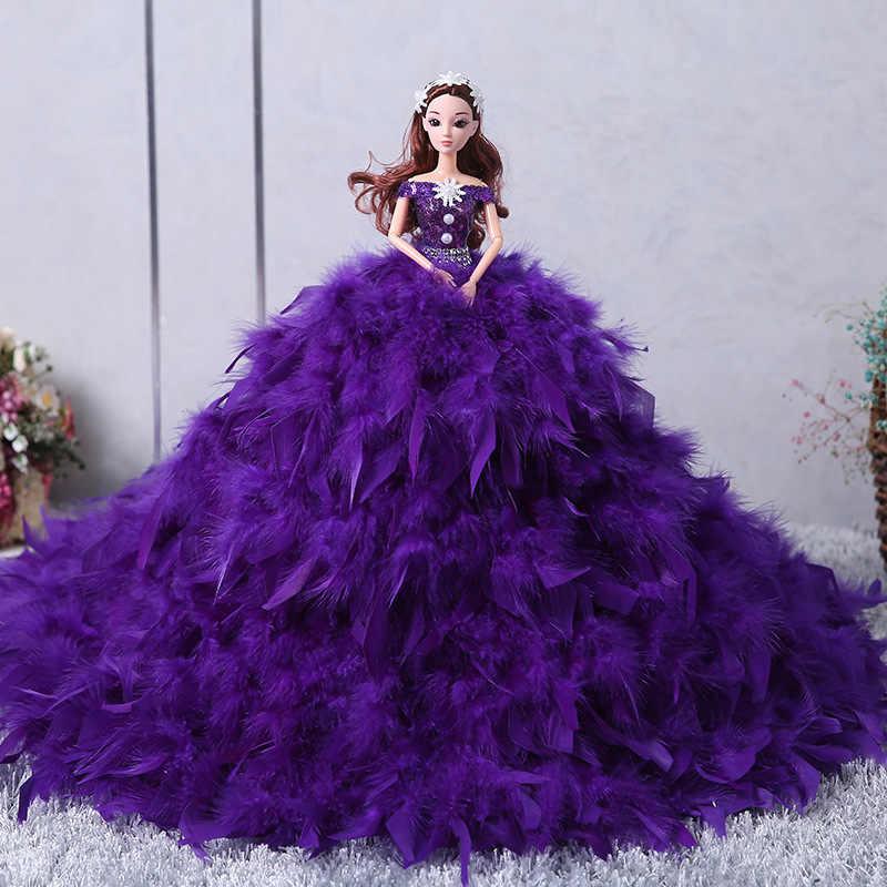Мини-кукла 3D настоящие глаза куклы темперамент платье со шлейфом кукла-невеста Девушка Игрушки для принцесс детская игрушка подарок на день рождения для девочек подарок
