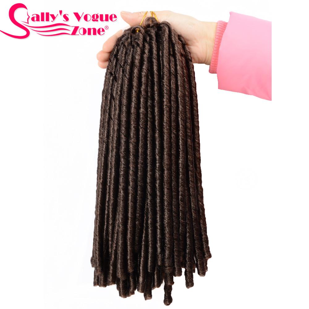 24 Roots Faux LocsCrochet Hair 18 Crochet Faux Lock Dreadlock Crochet Braids hair Extensions Synthetic Braiding hair Soft lock (160)