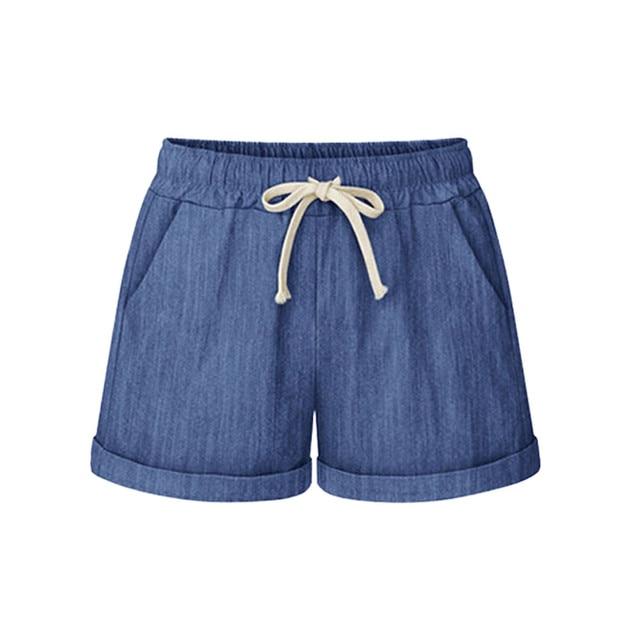 Plus Size Pocket Shorts women Summer 2019 Streetwear Casual Drawstring Running Gym Sports summer shorts Women short feminino 1