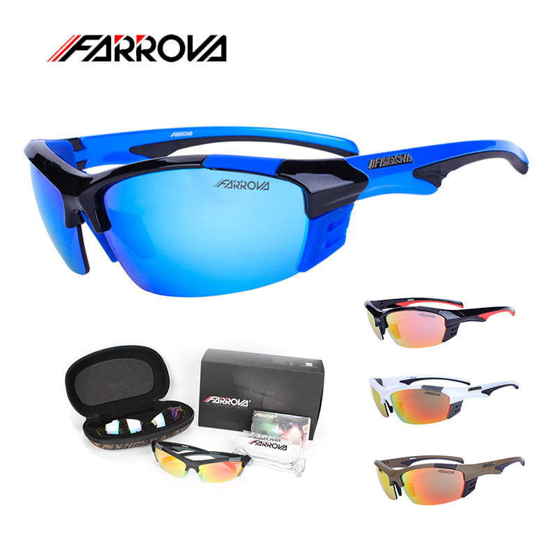 Farrova Cycling Eyewear Polarized Cycling Sunglasses New Men Outdoor Sport Goggles Sun Glasses Male Cycle Glasses obaolay outdoor cycling sunglasses polarized bike glasses 5 lenses mountain bicycle uv400 goggles mtb sports eyewear for unisex