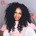150 Density Brazilian Deep Wave Virgin Hair U Part Human Hair Wigs For Black Women Virgin Human Hair With Baby Hair U Part Wig