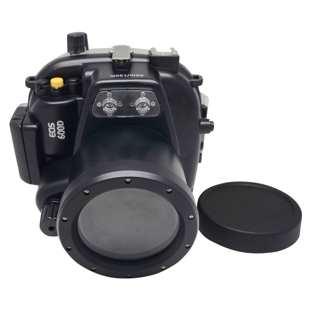 Mcoplus 40m/130ft Underwater Waterproof Housing Case for Canon EOS 600D/Rebel T3i 55mm Lens 65 95 55mm waterproof case
