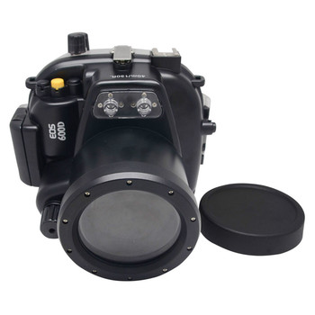Mcoplus 40m/130ft Underwater Waterproof Housing Case for Canon EOS 600D/Rebel T3i 55mm Lens