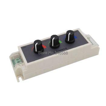DC12V-24 V 9A kontroler RGB 3 kanał RGB LED sterownik ściemniacza dla 3528 5050 RGB LED pasek światła tanie i dobre opinie Ściemniacze ROHS veromount