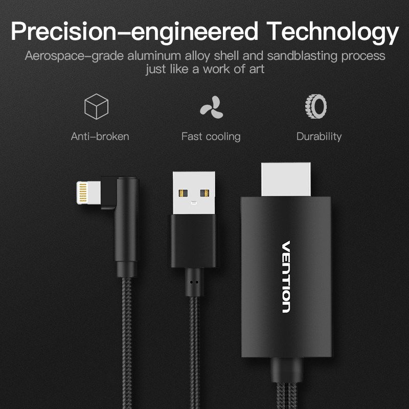 Image 3 - Vention 8 Pin to HDMI Converter 1080P HDMI Cable for iPhone X XS 8 Plus IOS Support HDTV Digital Adapter for Ligntning to HDMI 2
