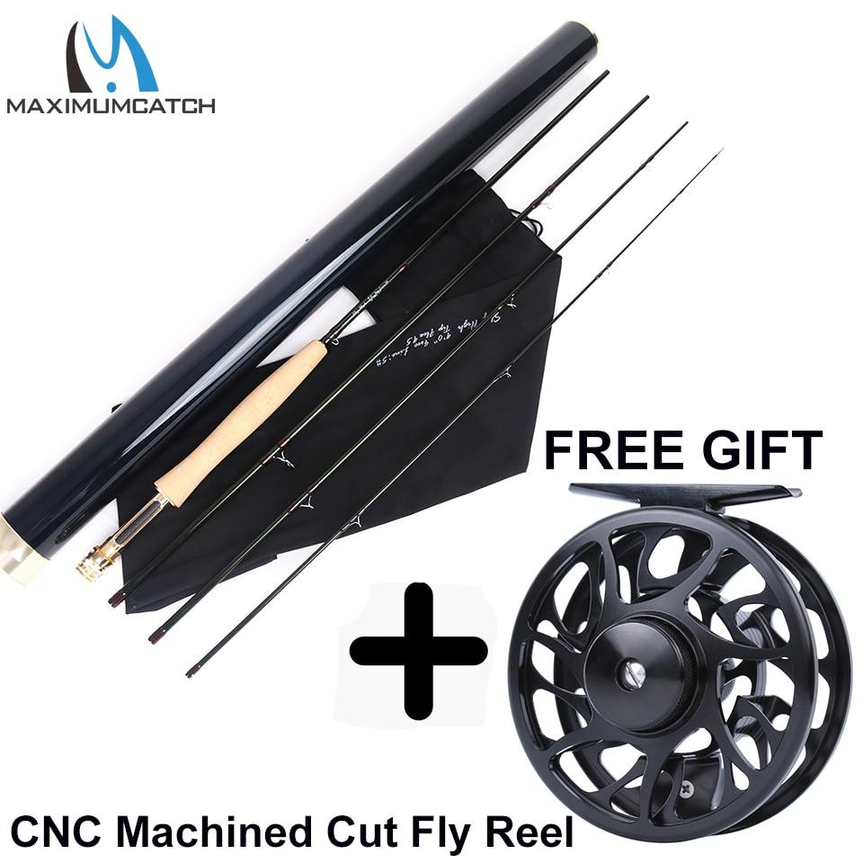 Maximumcatch Skyhigh Fly Rod IM12 Toray Carbon Super Licht Snelle Actie Fly Hengel met Carbon Buis 2 8WT 6 10FT 3 4Sec