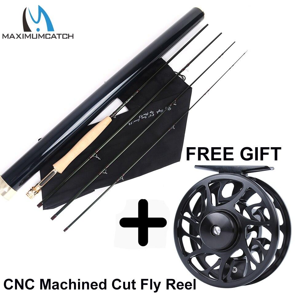 Maximumcatch skyhigh voar vara im12 toray carbono super leve ação rápida voar vara de pesca com tubo de carbono 2-8wt 6-10ft 3-4sec