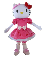cosplay costumes Hello Kitty Mascot Costume Adult Size Hello Kitty Mascot Costume adult mascot costume Free shipping