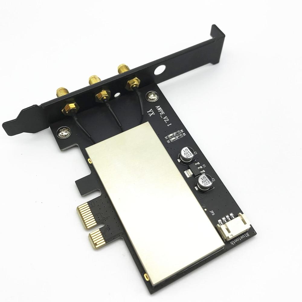 Broadcom BCM943602CS 867 Mbps double bande 802.11ac bureau PCI-E 1X adaptateur WiFi PCi Express carte sans fil + Bluetooth 4.0 - 4