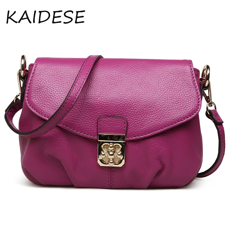 KAIDESE 2017 package cover type Classic Black Leather Handbag bag all-match, casual fashion wind leather Crossbody handbag w 247 classic leather
