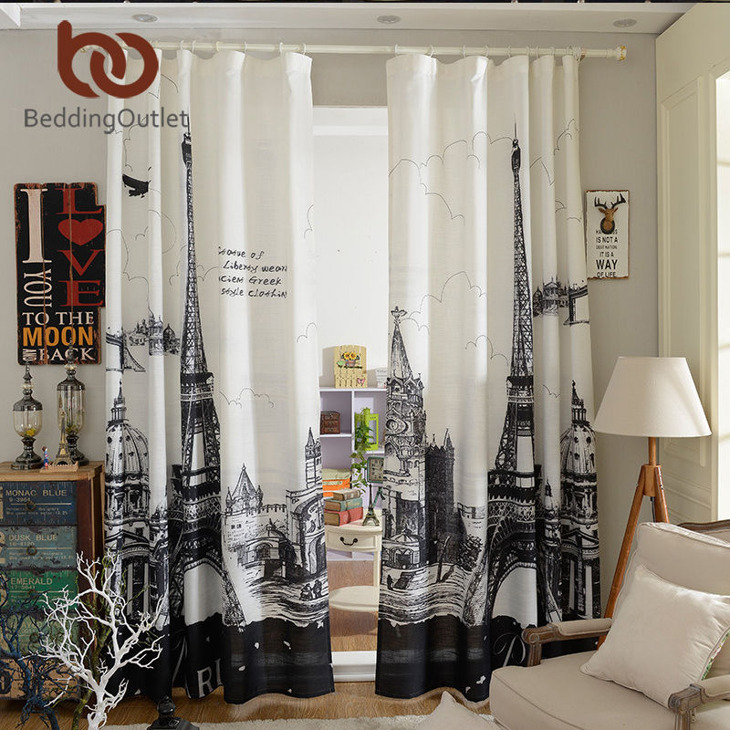BeddingOutlet Paris Curtain For Living Room Home Decoration 1pc 14mx27m Bedroom Sheer Window In Curtains From Garden On Aliexpress