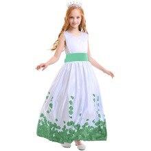 Girls dress Kids Girl Flower Petals Dress Teen Children Bridesmaid Elegant Big Bow-knotPrincess Formal Party