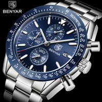 BENYAR 2018 New Men Watch Business Full Steel Quartz Top Brand Luxury Casual Waterproof Sports Male Wristwatch Relogio Masculino