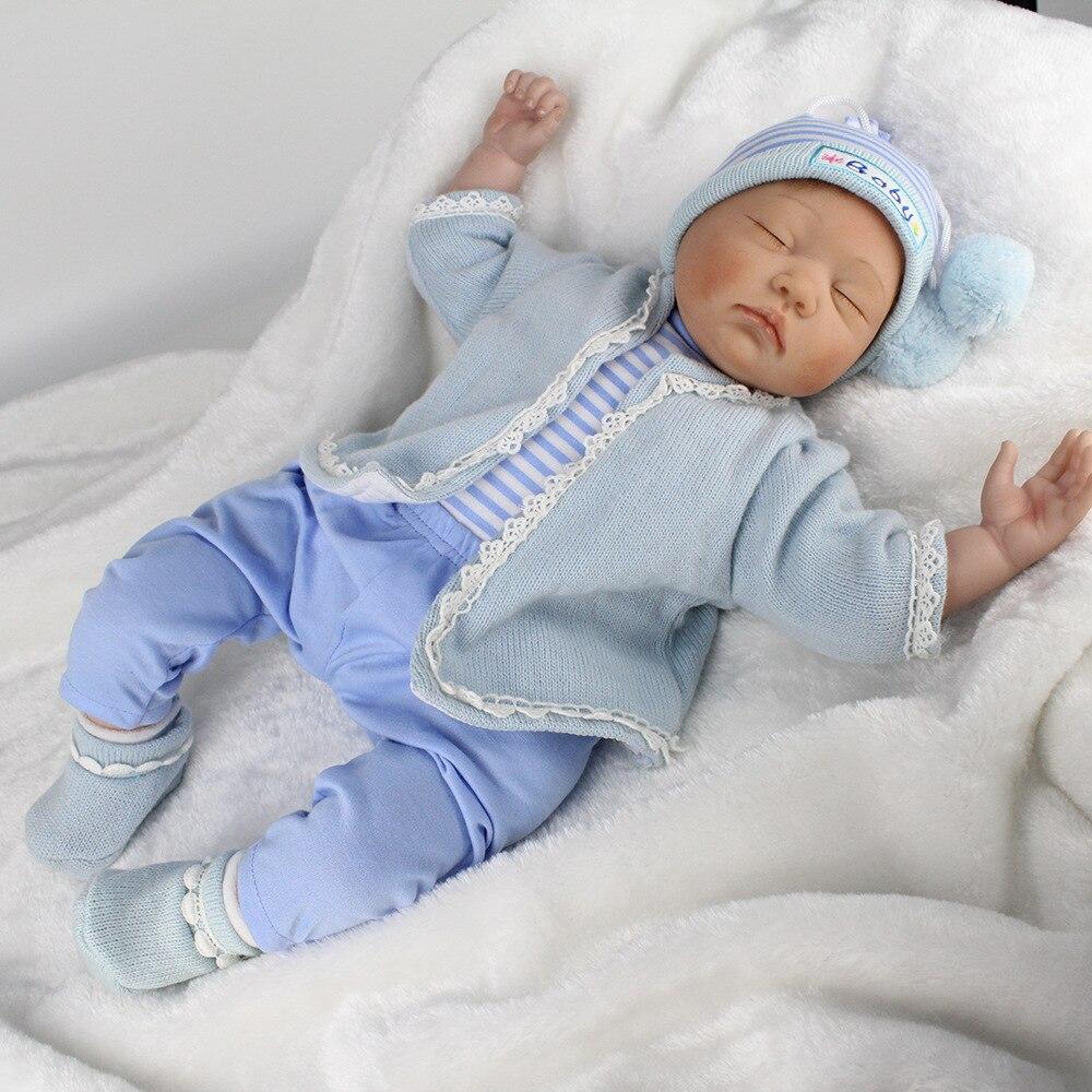 Silicone reborn bébé poupées garçons filles dormir bébés lifelik 2017 preemie 55 cm poupée bébé vraie princesse 22 ''enfants jouets pour les filles