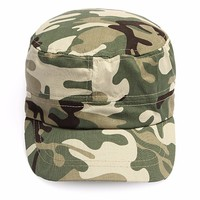 Hot Sale Kids Camo Camouflage Military Army Cadet Flat Hat Snapback Sun Cap Children Outdoor Sports