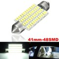 48 LED 3014 SMD Dome Interior Festoon Reading Light Bulb Lamp 7000 - 8000K Cool White Car Light Source Parking 12-24V